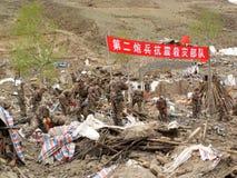 wojska wyzwolenia ludzie reliefowego s działania Obrazy Stock