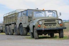 wojsko 2 ciężarówki Fotografia Stock