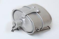 Wojsko aluminiowa kolba z garnkiem Zdjęcia Royalty Free