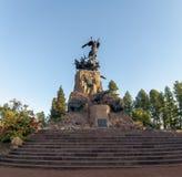 Wojsko Andes Pomnikowi w Cerro De Los angeles Gloria przy generałem San Martin Parkujący, Mendoza -, Argentyna obraz stock