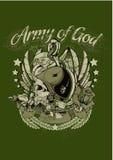 Wojsko bóg ilustracji