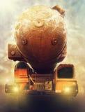 Wojsko ciężarówki jądrowa wyrzutnia rakietowa Zdjęcie Royalty Free