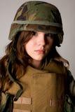 wojsko dziewczyna Obraz Royalty Free
