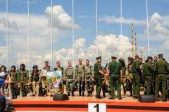 Wojsko Games-2017 Bezpiecznej trasy konkurs Tyumen Rosja Fotografia Royalty Free