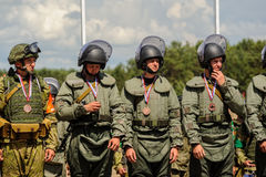Wojsko Games-2017 Bezpiecznej trasy konkurs Tyumen Rosja Obrazy Stock
