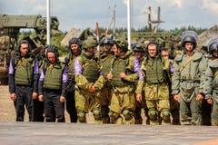 Wojsko Games-2017 Bezpiecznej trasy konkurs Tyumen Rosja Zdjęcie Royalty Free
