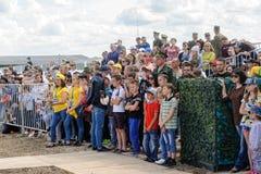Wojsko Games-2017 Bezpiecznej trasy konkurs Tyumen Rosja Zdjęcia Stock