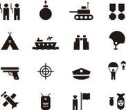 Wojsko ikony set Fotografia Royalty Free
