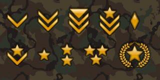 Wojsko kategorii znaki Zdjęcie Stock