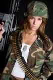 wojsko kobieta Zdjęcia Stock