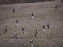 2013 wojsko marynarki wojennej pucharu śnieżny mecz futbolowy Obraz Royalty Free