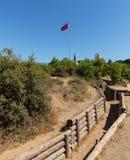 Wojsko okopy przy Anzac zatoczką Gallipoli Zdjęcie Stock