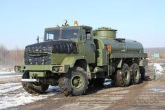 Wojsko paliwowa ciężarówka Zdjęcia Royalty Free