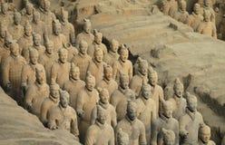 wojsko porcelanowy terakotowy Xian Obrazy Royalty Free