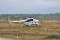 Wojsko przewieziony helikopter Mil Mi-8 Fotografia Royalty Free