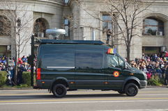 Wojsko samochód dostawczy Zdjęcia Stock