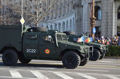 Wojsko samochody Obraz Royalty Free