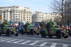 Wojsko samochody Fotografia Stock