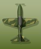 Wojsko samolot na zieleni Zdjęcie Stock