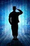 wojsko USA żołnierz w parady spoczynkowej pozyci. Obrazy Stock