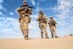 wojsko USA jednostek specjalnych Grupowi żołnierze zdjęcia royalty free