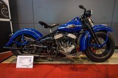 wojsko USA motocykl Harley-Davidson WLA, 1942 Zdjęcie Stock