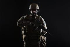 wojsko USA Zielony beret Obrazy Royalty Free