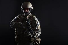 wojsko USA Zielony beret Zdjęcia Royalty Free