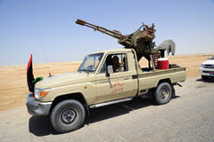 wojsko uwalnia libijczyka Zdjęcia Royalty Free
