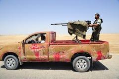 wojsko uwalnia libijczyka Zdjęcie Stock