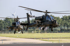 Wojskowego AH64 Apache śmigłowiec szturmowy Obraz Stock