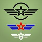Wojskowego emblemata stylowy set Fotografia Royalty Free