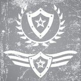 Wojskowego grunge stylowi emblematy Fotografia Stock