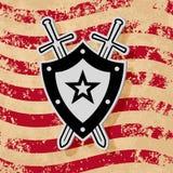 Wojskowego grunge stylowy emblemat Zdjęcie Royalty Free