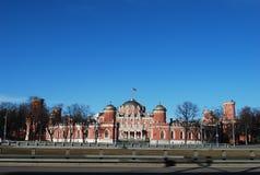Wojskowego i powietrza akademia N e Zhukovsky Poprzedni Petrovsky dost?pu pa?ac obraz royalty free
