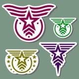 Wojskowego loga stylowy set Obrazy Stock