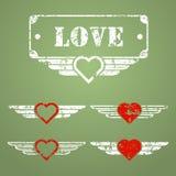 Wojskowego stylu miłości emblematy Fotografia Royalty Free