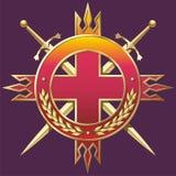 Wojskowego stylu odznaka Zdjęcie Stock