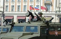 Wojskowy GAZ-2330 Tigr - Rosyjski wielocelowy pojazd pancerny Zdjęcie Royalty Free