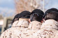 Wojskowy gromadzi się w formaci Zdjęcia Stock