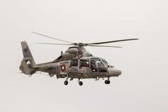 Wojskowy pantery ratowniczy helikopter w pokazie lotniczym Zdjęcie Royalty Free