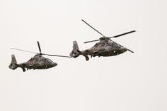 Wojskowy pantery ratowniczy helikoptery w pokazie lotniczym Zdjęcie Stock