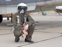 Wojskowy pilotuje zdjęcia stock