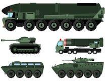 Wojskowych ciężcy pojazdy obrazy royalty free