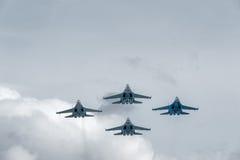 Wojskowych lotniczy wojownicy Su-27 Fotografia Royalty Free
