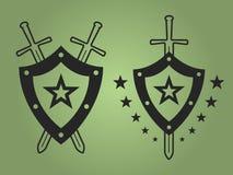 Wojskowych stylowi emblematy Fotografia Royalty Free