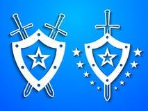 Wojskowych stylowi emblematy Zdjęcie Royalty Free