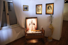 Wojtyla cradle. The cradle of the pope john paul II in his house at wadowice in poland Stock Photography
