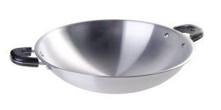 Wok, asia cooking wok on background. Stock Image