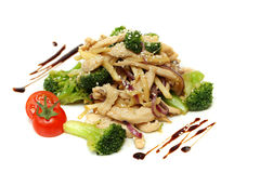 Wok - Asian stir fry with pork Stock Images